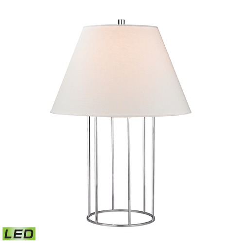 Dimond Lighting Dimond Lighting Chrome LED Table Lamp with Empire Shade D2588-LED