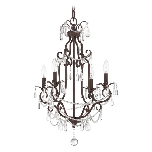 Craftmade Lighting Craftmade Aged Bronze Textured Mini-Chandelier 1054C-AG