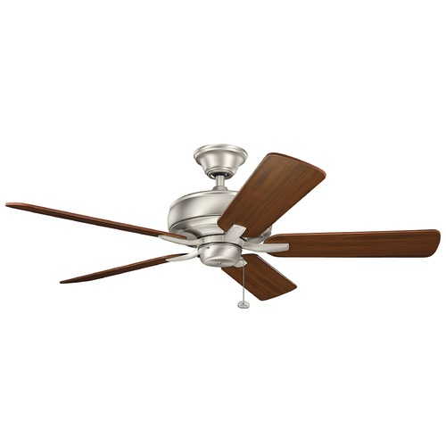 Kichler Lighting Kichler Lighting Terra Brushed Nickel Ceiling Fan Without Light 330247NI
