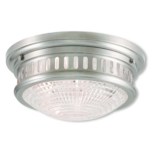 Livex Lighting Livex Lighting Berwick Brushed Nickel Flushmount Light 73052-91
