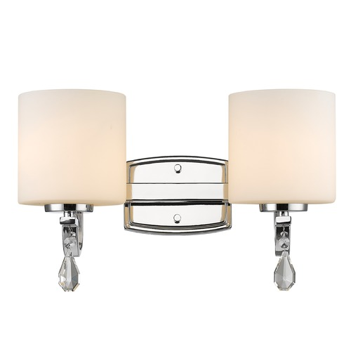Golden Lighting Golden Lighting Evette Chrome Bathroom Light 8037-BA2 CH-OP