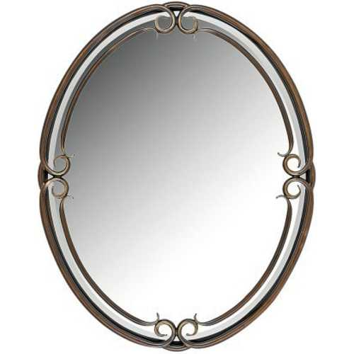 Quoizel Lighting Duchess Oval 24-Inch Quoizel Mirror DH43024PN