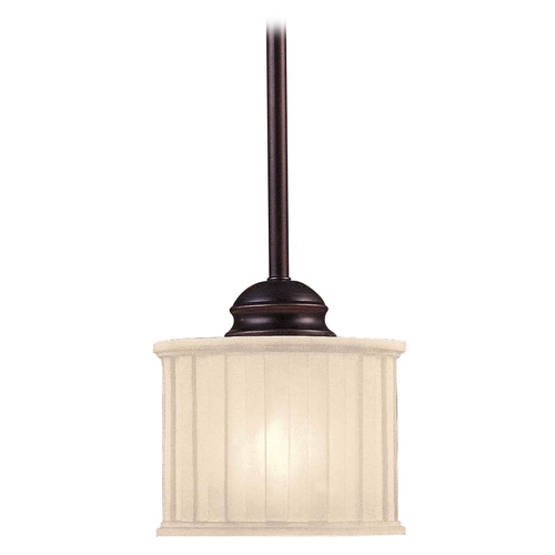 Minka Lavery Mini-Pendant Light with White Glass 1731-167
