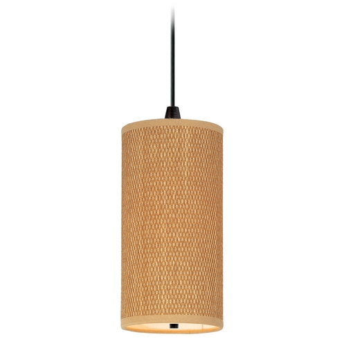 ET2 Lighting Modern Mini-Pendant Light with Brown Shade E95130-101OI