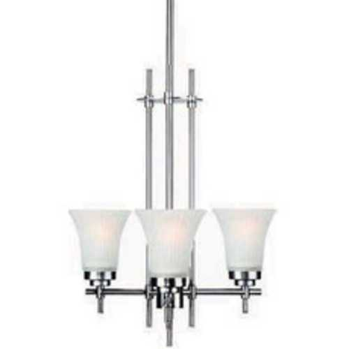 Lite Source Lighting Lite Source Lighting Bendek Satin Steel Pendant Light with Bell Shade LS-19943SS/FRO