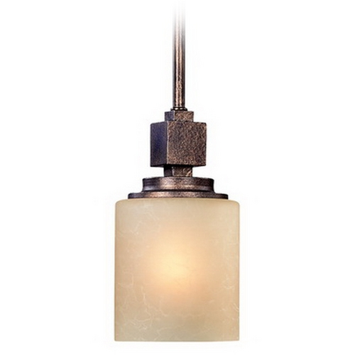 Dolan Designs Lighting Mini-Pendant with Harvest Glass 2701-90