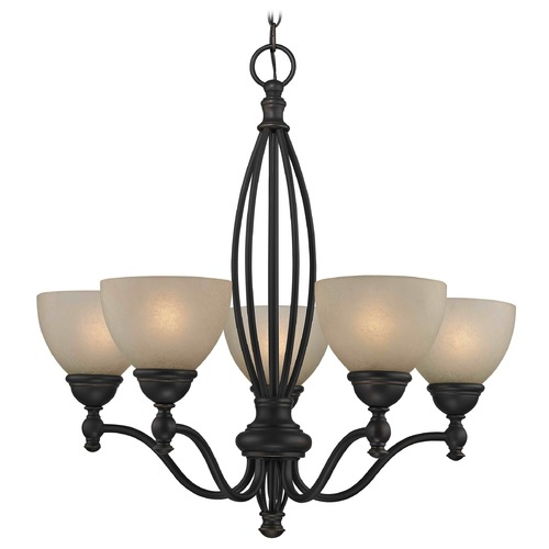 Design Classics Lighting Caramelized Glass Traditional Chandelier - Bolivian Finish 2920-78 GL1033-CAR