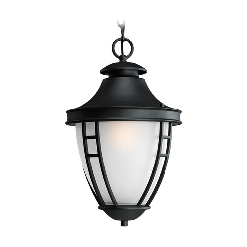 Progress Lighting Progress Outdoor Hanging Light with White Glass in Black Finish P5848-31