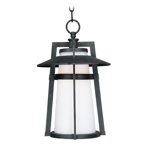 Maxim Lighting Outdoor Hanging Light with White Glass in Adobe Finish 3539SWAE