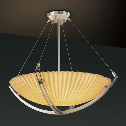 Justice Design Group Justice Design Group Porcelina Collection Pendant Light PNA-9722-35-PLET-NCKL