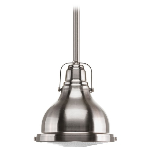 Progress Lighting Progress Lighting Fresnel Lens Brushed Nickel Mini-Pendant Light P5050-09