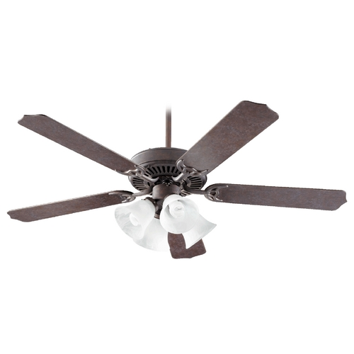 Quorum Lighting Quorum Lighting Capri Vii Toasted Sienna Ceiling Fan with Light 77525-8744