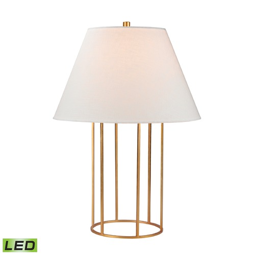 Dimond Lighting Dimond Lighting Gold Leaf LED Table Lamp with Empire Shade D2589-LED
