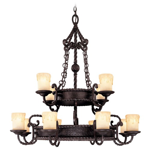 Savoy House Savoy House Slate Chandelier 1-2232-12-25