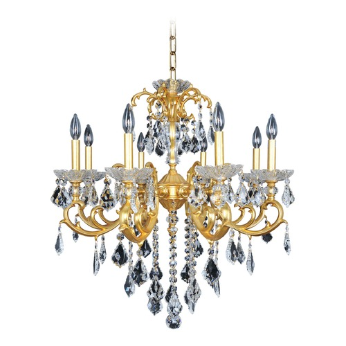 Allegri Lighting Praetorius 8 Light Crystal Chandelier w/ French Gold 24k 023153-011-FR001