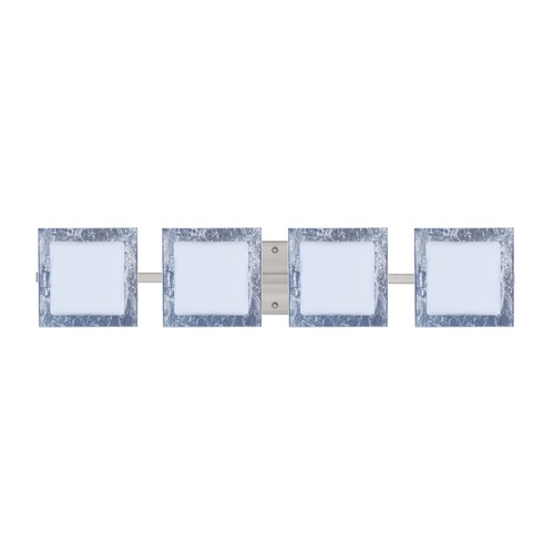 Besa Lighting Besa Lighting Alex Satin Nickel LED Bathroom Light 4WS-7735SF-LED-SN