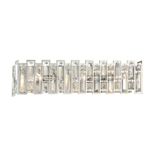 Designers Fountain Lighting Designers Fountain West 65th Satin Platinum Bathroom Light 88203-SP