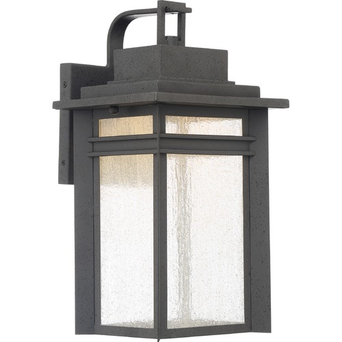 Quoizel Lighting Quoizel Lighting Beacon Stone Black LED Outdoor Wall Light BEC8409SBK