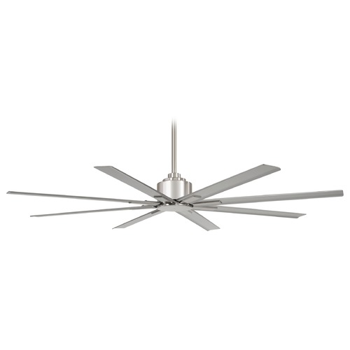 Minka Aire 84-Inch Minka Aire Xtreme H2O Brushed Nickel Ceiling Fan Without Light F896-84-BNW