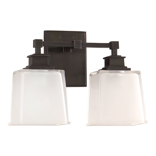 Hudson Valley Lighting Bathroom Light with White Glass in Old Bronze Finish 1952-OB