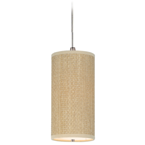ET2 Lighting Modern Mini-Pendant Light with Brown Shade E95130-101SN