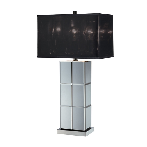 Lite Source Lighting Lite Source Lighting Dario Mirror Table Lamp with Rectangle Shade LS-21986