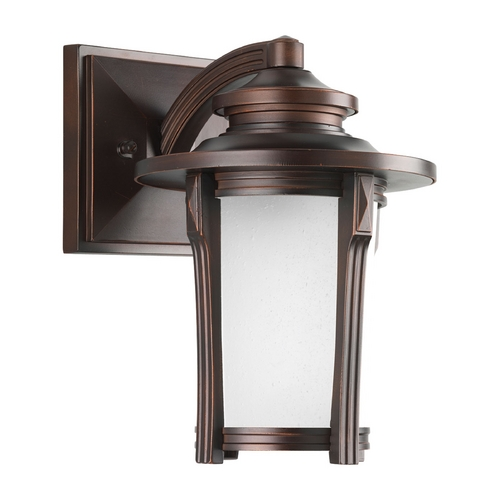 Progress Lighting Progress Outdoor Wall Light with White Glass in Autumn Haze Finish P5980-97