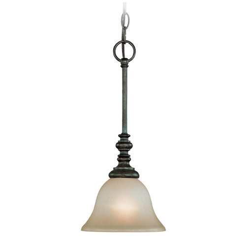 Jeremiah Lighting Jeremiah Barrett Place Mocha Bronze Mini-Pendant Light with Bell Shade 24221-MB