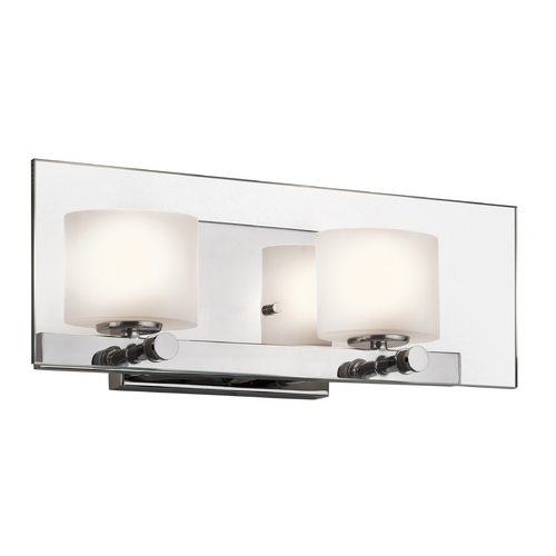 Kichler Lighting Kichler Modern Bathroom Light with White Glass in Chrome Finish 45171CH
