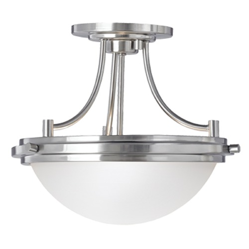 Sea Gull Lighting Sea Gull Lighting Winnetka Brushed Nickel Semi-Flushmount Light 77660-962