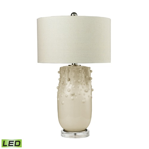 Dimond Lighting Dimond Lighting Cream Glaze LED Table Lamp with Drum Shade D2610-LED