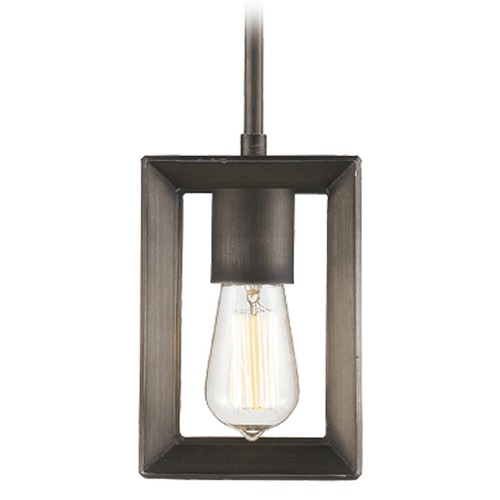 Golden Lighting Golden Lighting Smyth Gunmetal Bronze Mini-Pendant Light 2073-M1L GMT