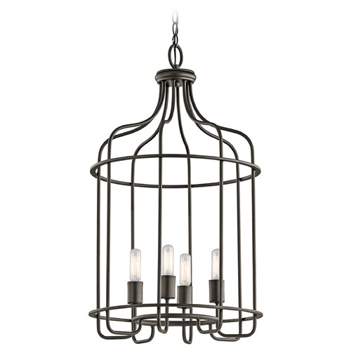 Kichler Lighting Kichler Lighting Tinley Olde Bronze Pendant Light 42855OZ