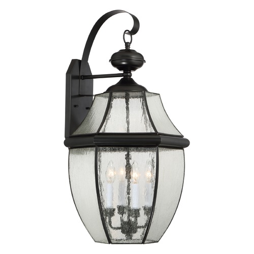 Quoizel Lighting Quoizel Newbury Mystic Black Outdoor Wall Light NY8416K