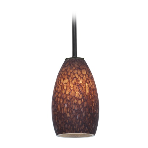Access Lighting Access Lighting Champagne Oil Rubbed Bronze LED Mini-Pendant Light with Oblong Shade 28012-4R-ORB/BRST