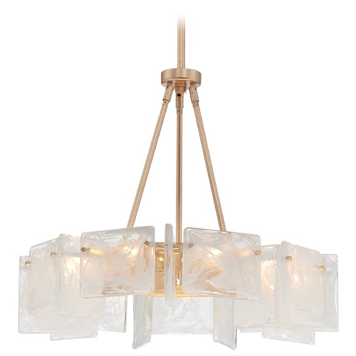 Metropolitan Lighting Metropolitan Arctic Frost Antique French Gold Pendant Light N7289-595