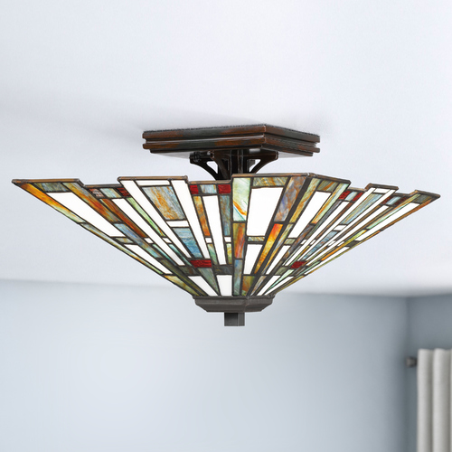 Quoizel Lighting Quoizel Lighting Maybeck Valiant Bronze Semi-Flushmount Light TFMK1714VA