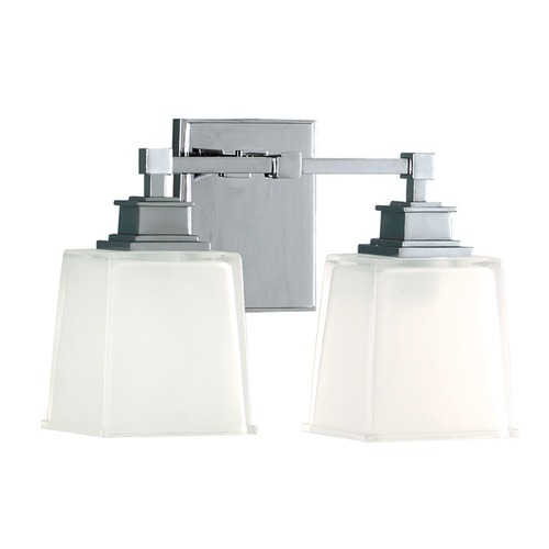 Hudson Valley Lighting Bathroom Light with White Glass in Polished Chrome Finish 1952-PC