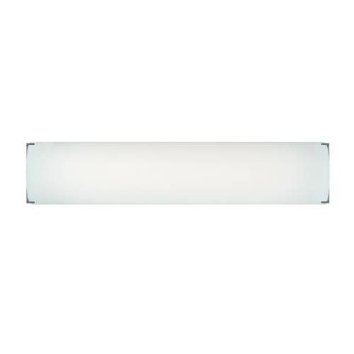 Philips Lighting Modern Bathroom Light with White Glass in Satin Nickel Finish F348236U