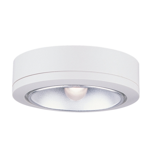 Sea Gull Lighting Sea Gull Lighting White 3.125-Inch Puck Light 9858-15