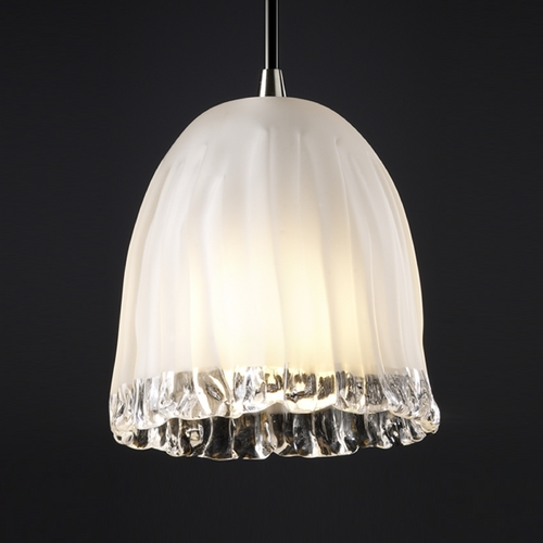 Justice Design Group Justice Design Group Veneto Luce Collection Mini-Pendant Light GLA-8815-56-WTFR-NCKL