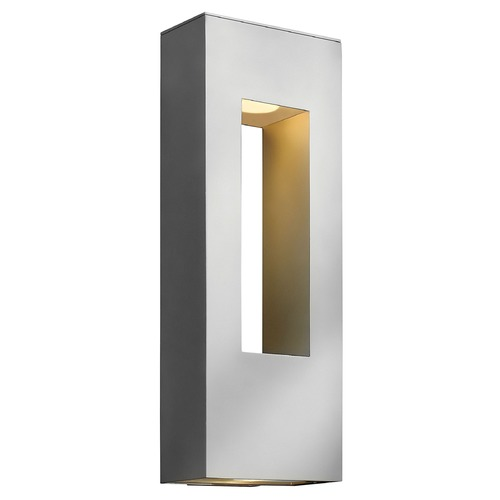 Hinkley Lighting Modern LED Outdoor Wall Light in Titanium Finish 1649TT-LED
