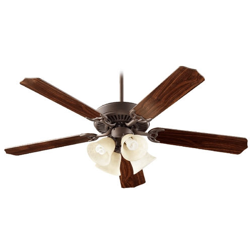Quorum Lighting Quorum Lighting Capri Vii Oiled Bronze Ceiling Fan with Light 77525-8986