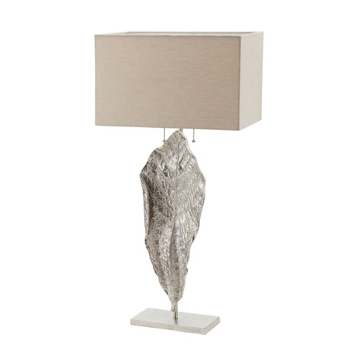 Dimond Lighting Dimond Lighting Nickel Table Lamp with Rectangle Shade 468-031