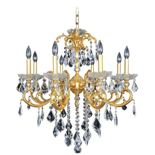 Allegri Lighting Praetorius 8 Light Crystal Chandelier w/ Two-Tone Silver 023153-017-FR001