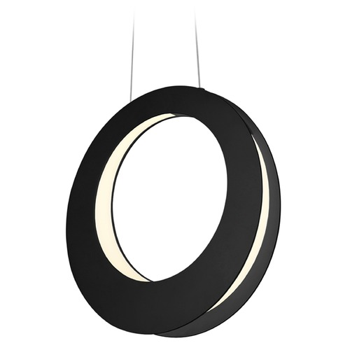 Sonneman Lighting Sonneman Haro Satin Black LED Pendant Light 1754.25