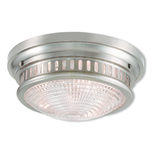 Livex Lighting Livex Lighting Berwick Brushed Nickel Flushmount Light 73053-91