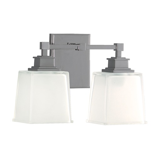 Hudson Valley Lighting Bathroom Light with White Glass in Satin Nickel Finish 1952-SN