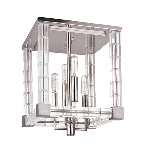 Hudson Valley Lighting Hudson Valley Vintage Crystal Ceiling Light in Polished Nickel Finish 7112-PN