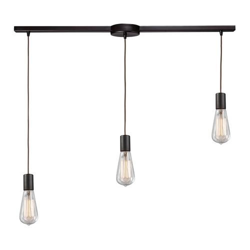 Elk Lighting Modern Multi-Light Pendant Light with Clear Glass and 3-Lights 60046-3L